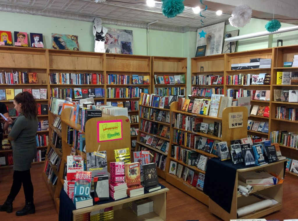Bluestockings is chocked full of books!