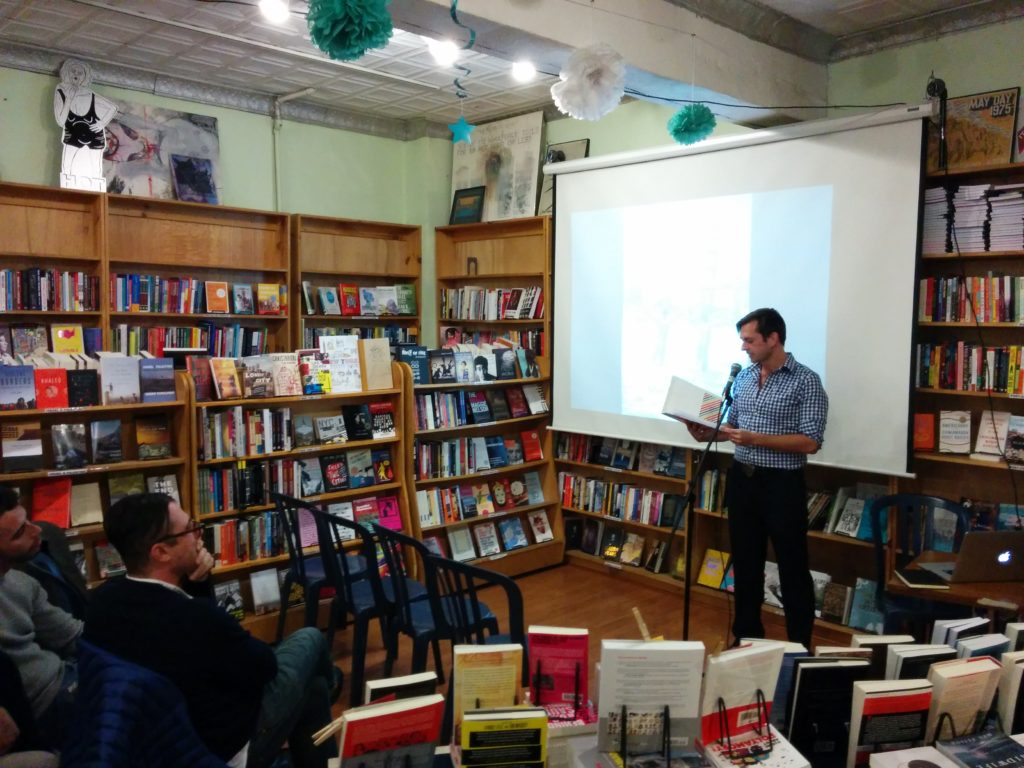 "Michael McClelland reads from his short story, ""Limerick."""